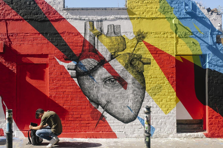 Darstellung eines Herzens in einer Wandmalerei